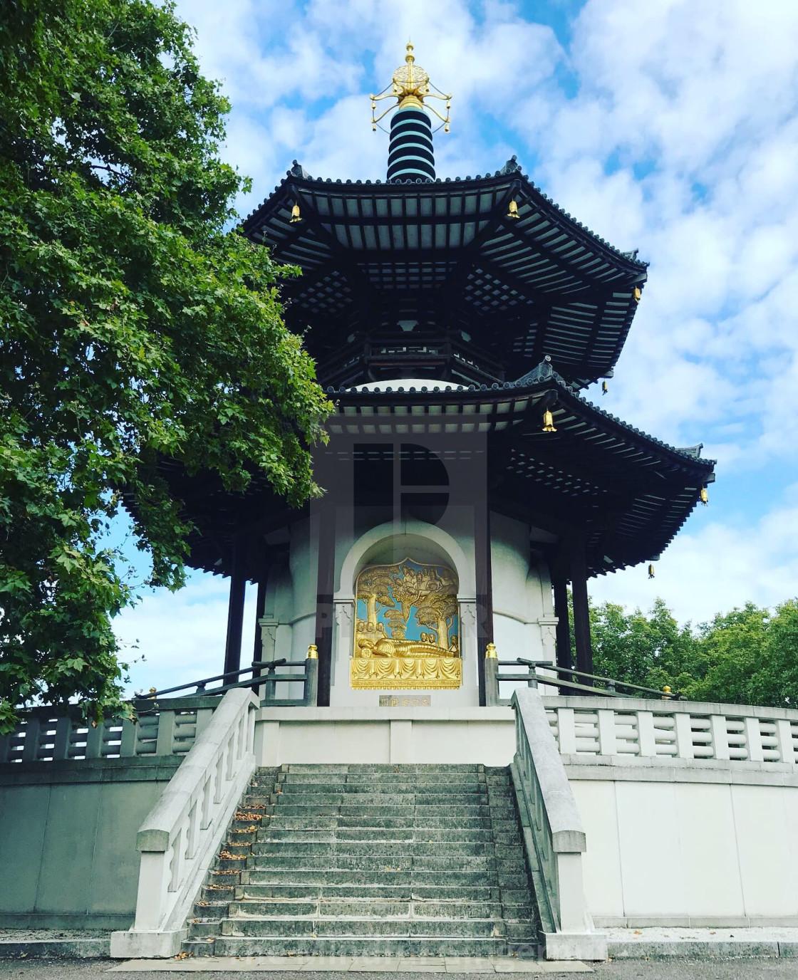 """""""Peace Pagoda 4"""" stock image"""