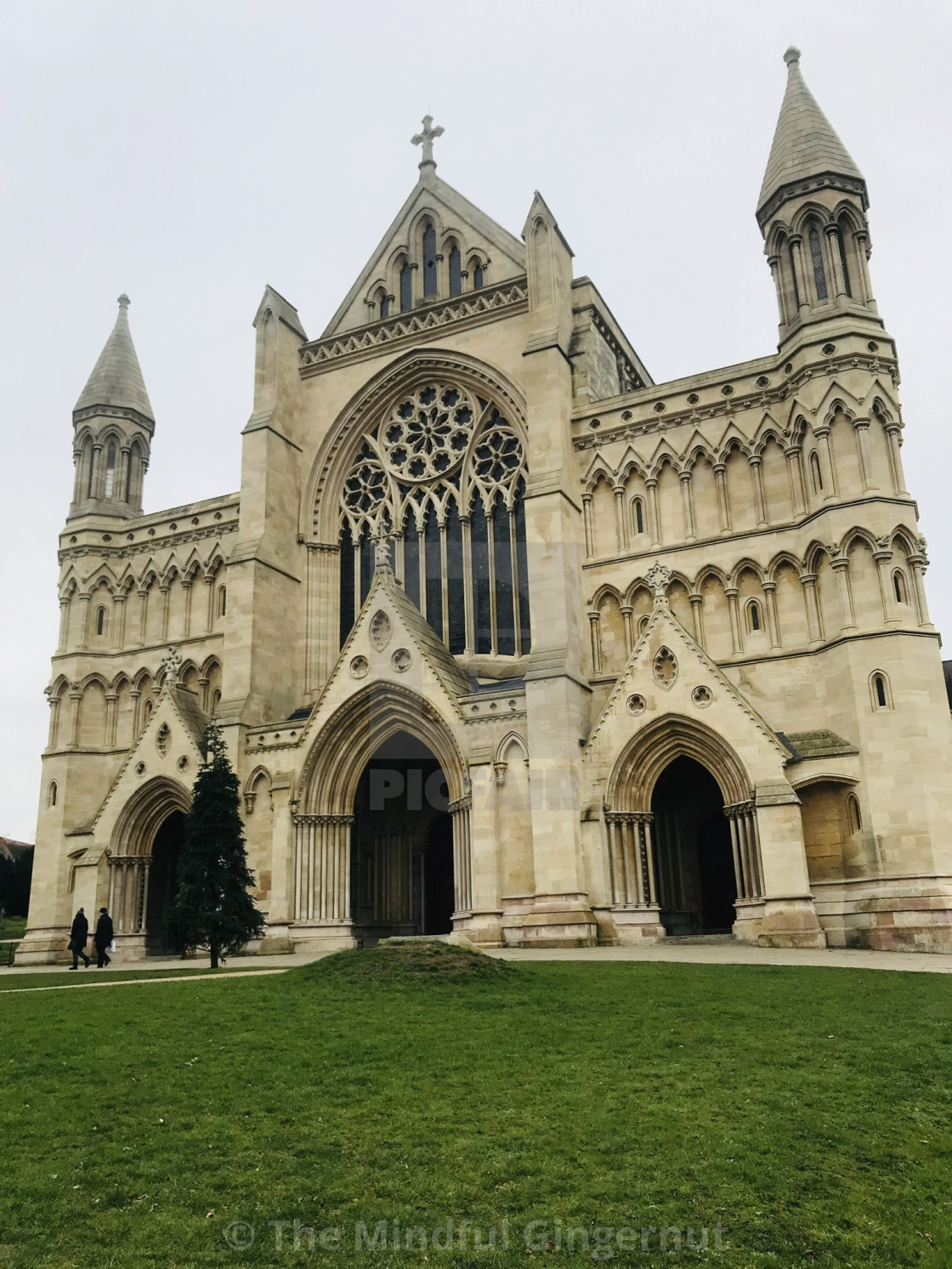 """""""St Albans Cathedral"""" stock image"""