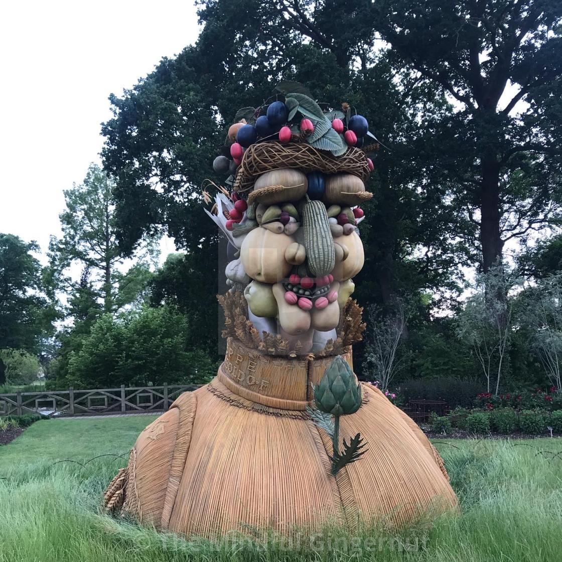 """""""Autumn Veg Sculpture"""" stock image"""