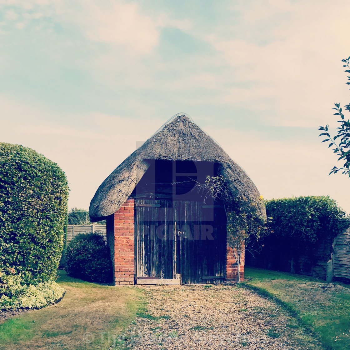 """""""Thatched Shed"""" stock image"""