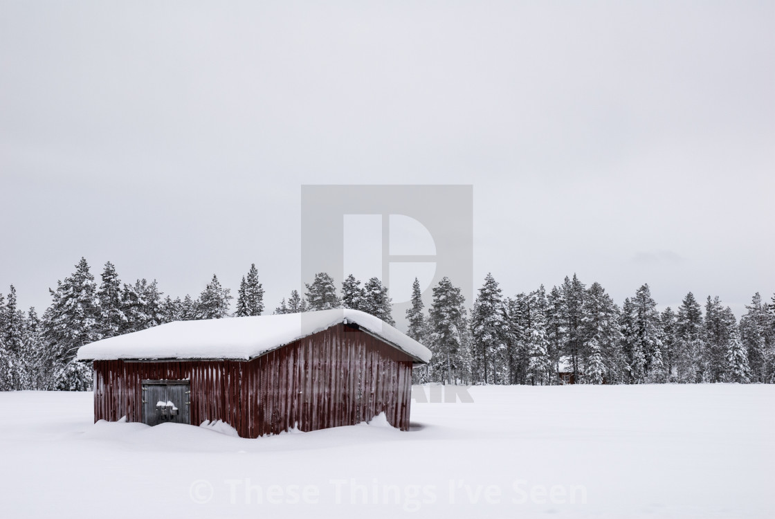 """The stillness of the arctic winter"" stock image"