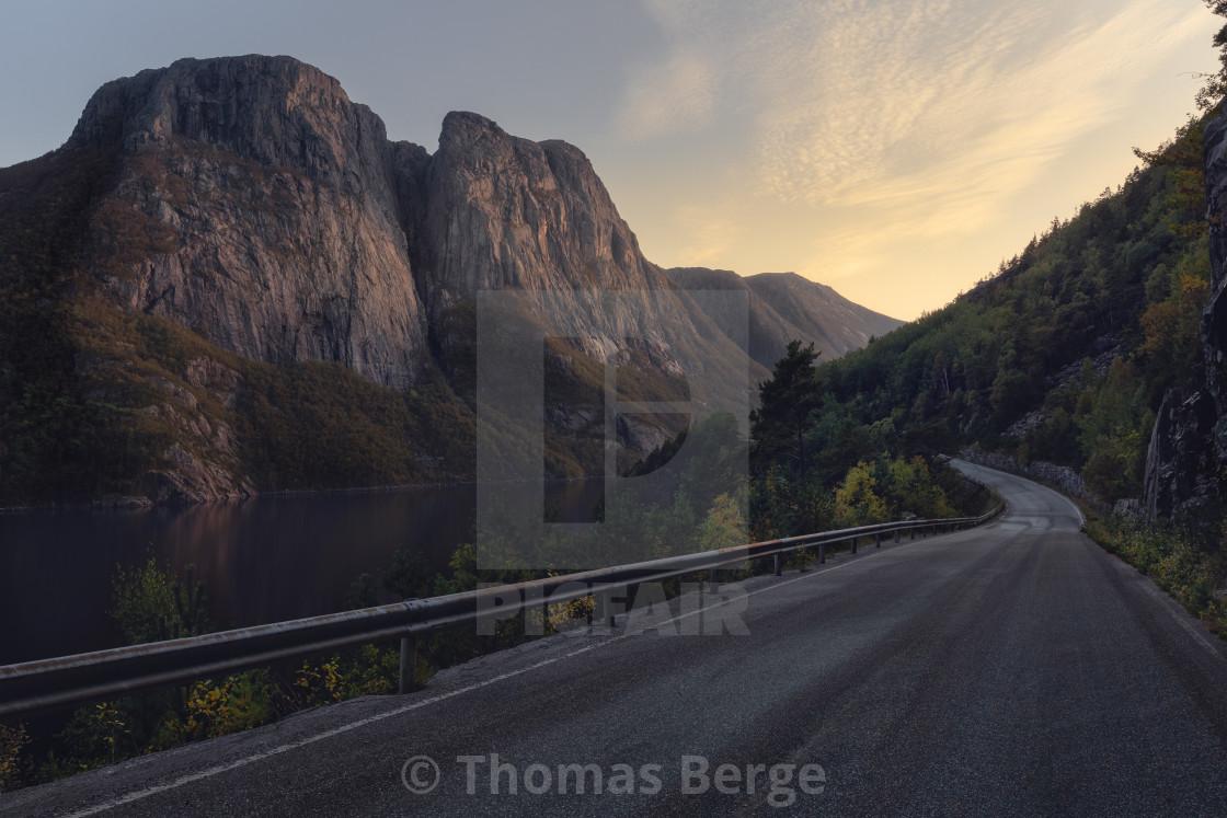 """Norwegian roads"" stock image"