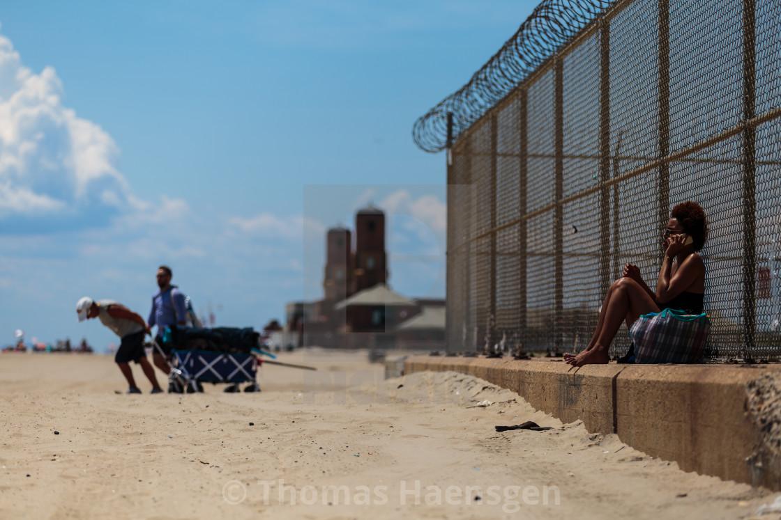 """Beach in New York"" stock image"