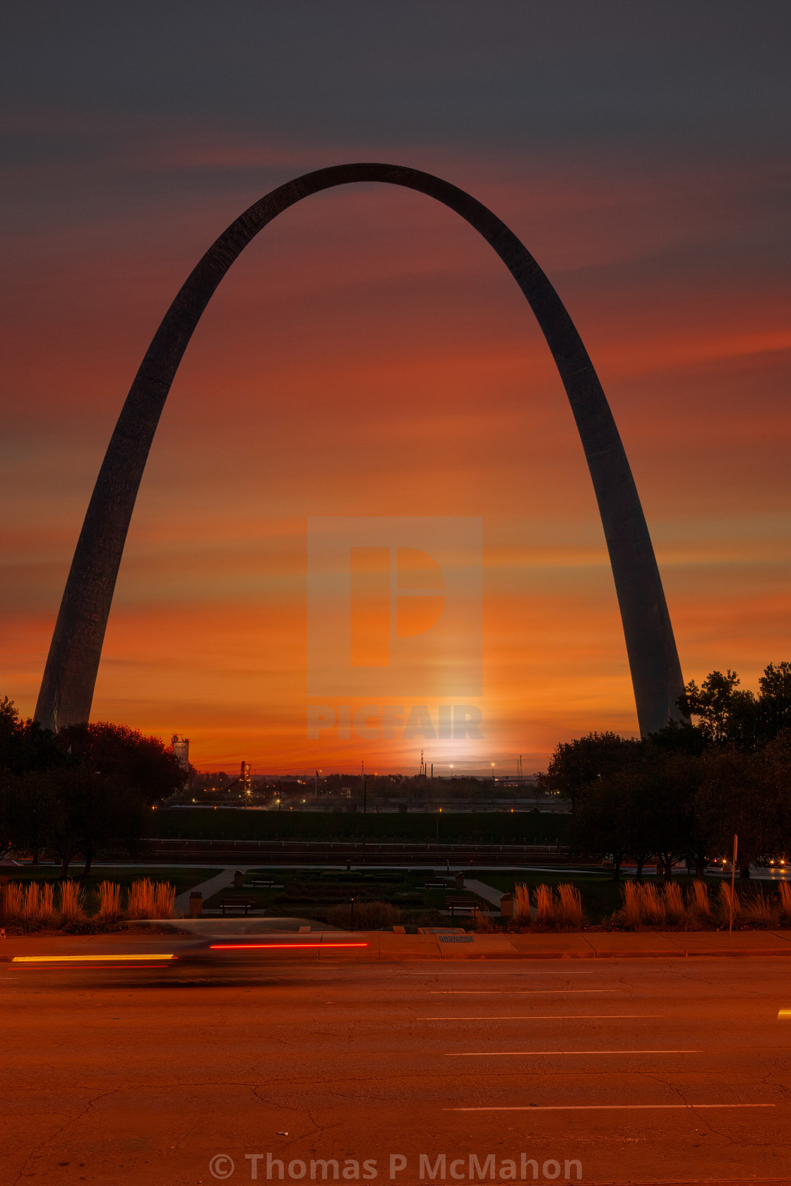 """""""Gateway to the West"""" stock image"""