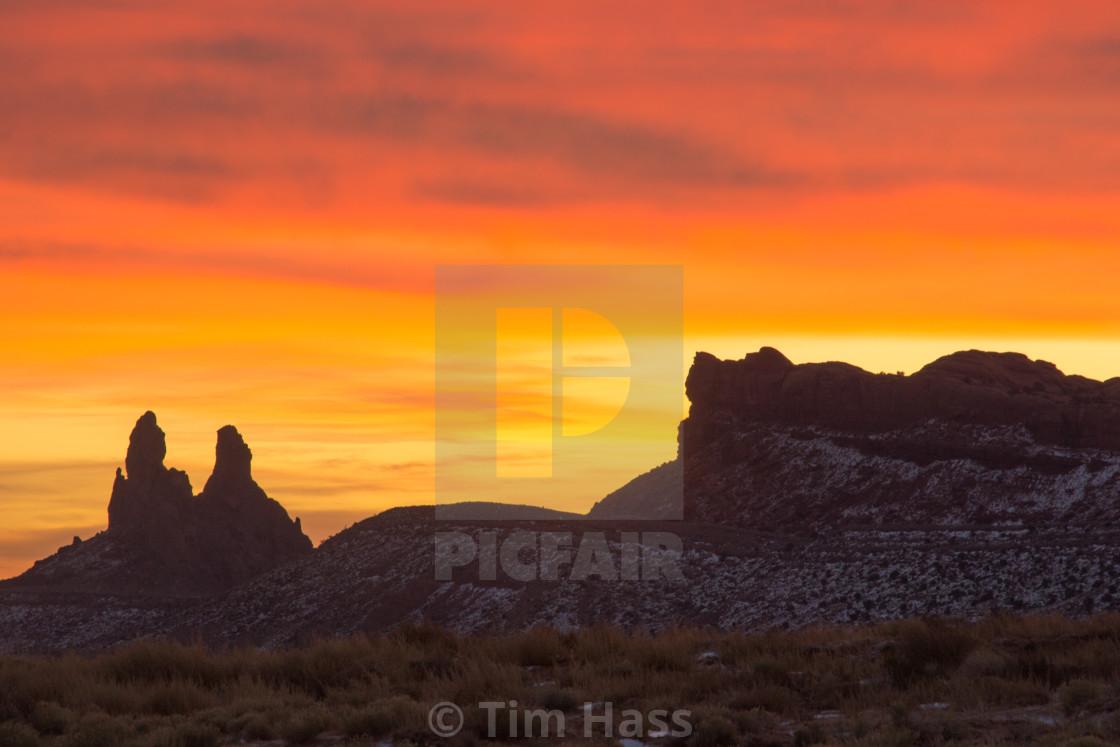 """""""Desert Sunrise"""" stock image"""