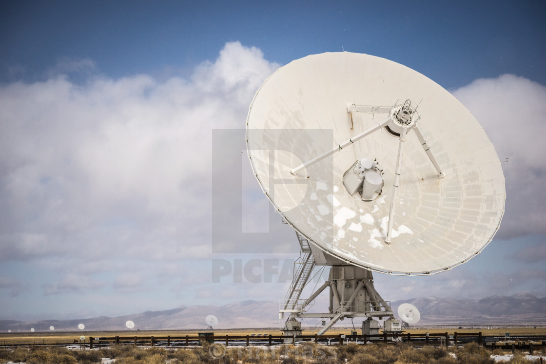 """The Very Large Array"" stock image"
