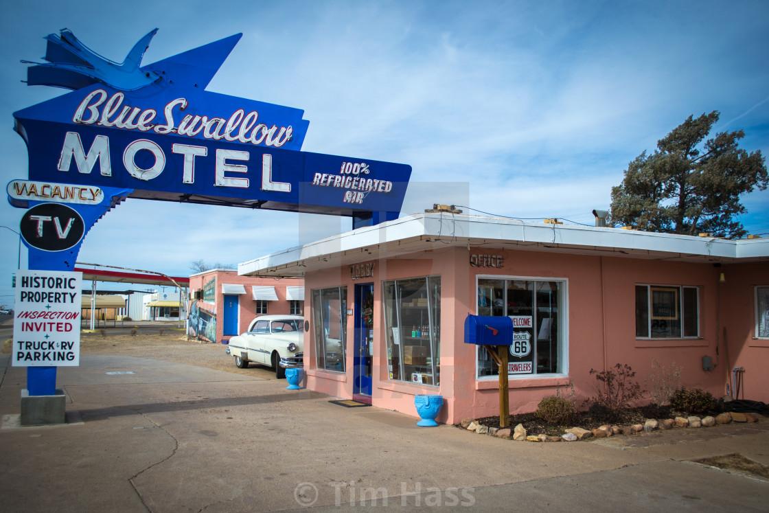 """""""Nostalgic Motel on Route 66"""" stock image"""