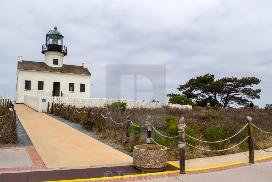 """Point Loma Lighthouse"" stock image"