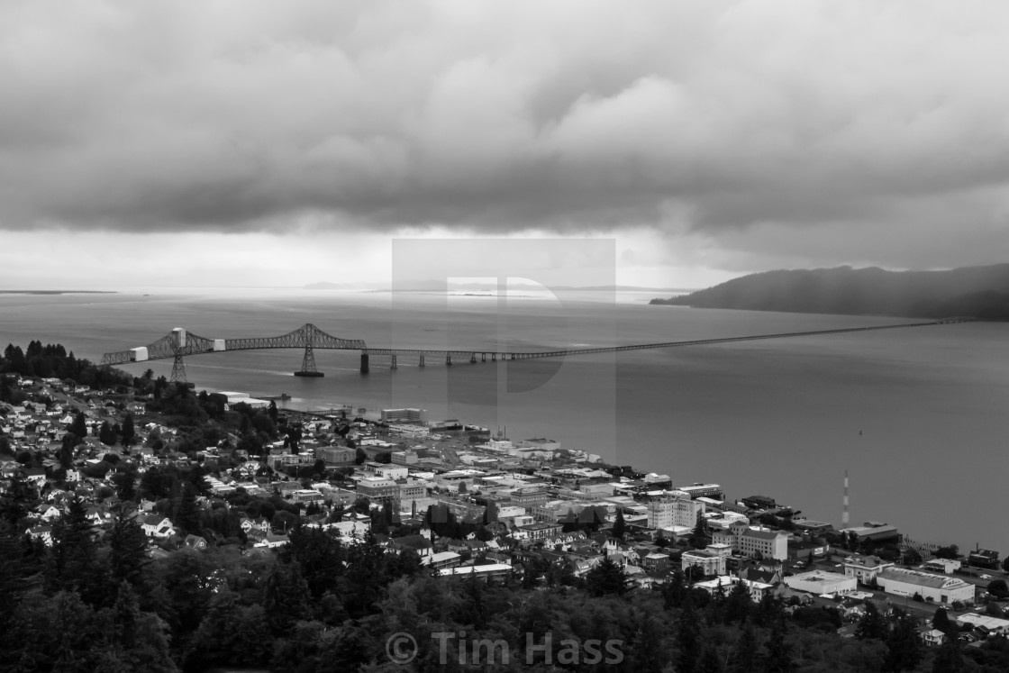 """""""Clouds over Astoria"""" stock image"""