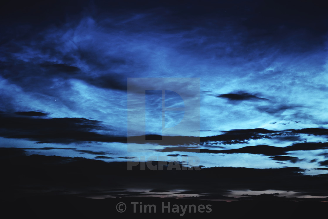 """""""2021-06-05 Noctiucent Clouds Display"""" stock image"""