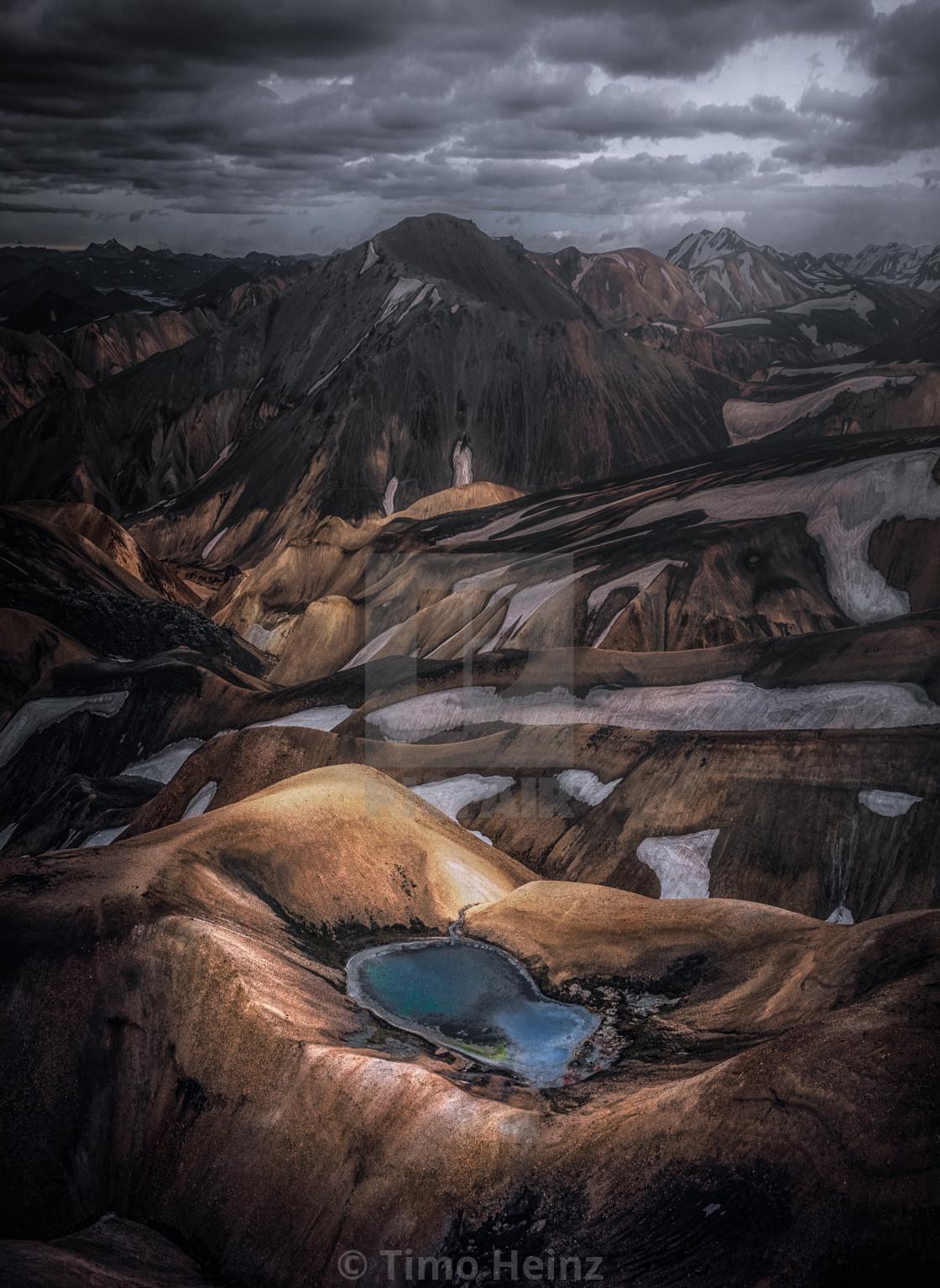"""Highlands of Iceland"" stock image"