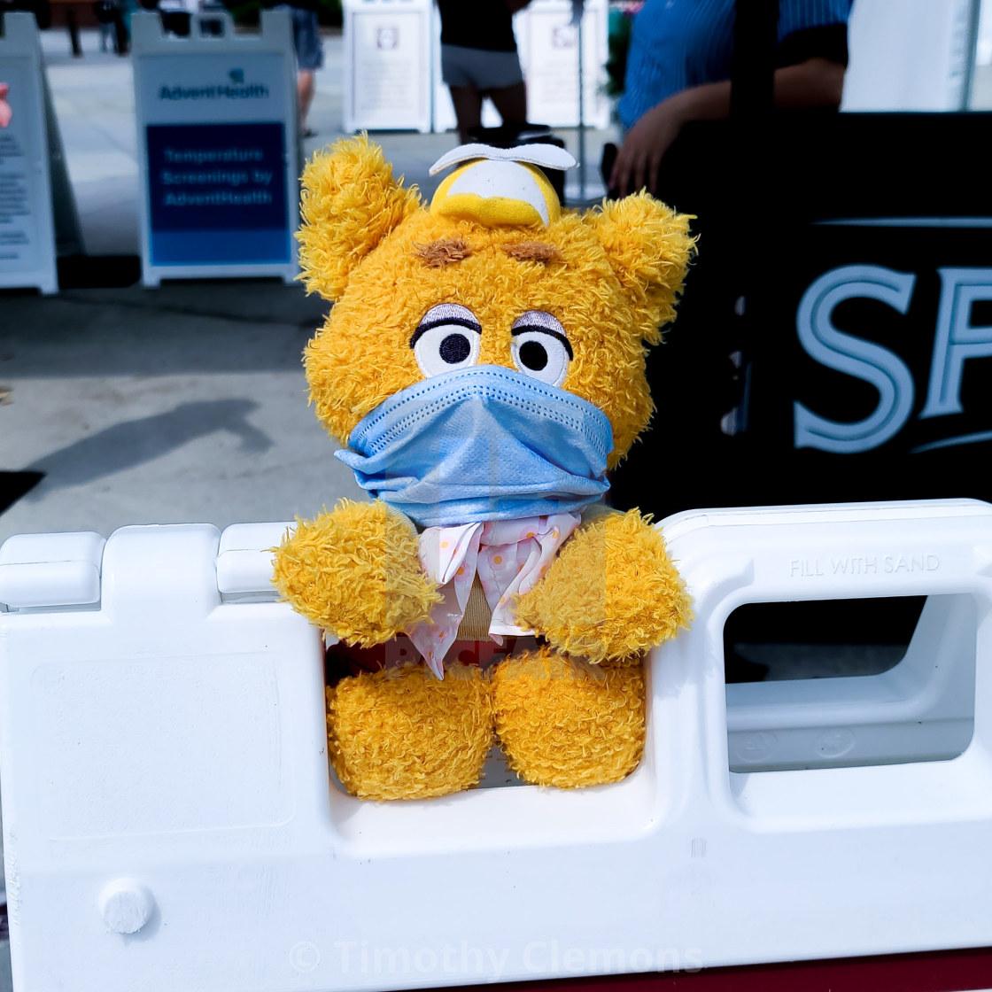 """Fozie checking temperatures at Disney Springs"" stock image"