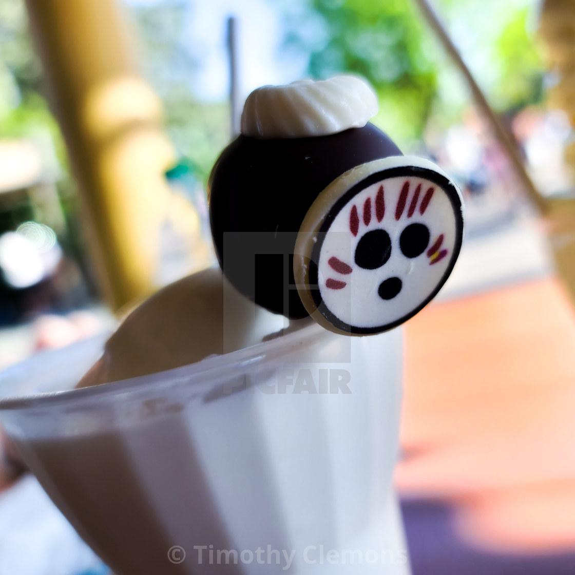 """""""Grabbing drinks in the Magic Kingdom"""" stock image"""