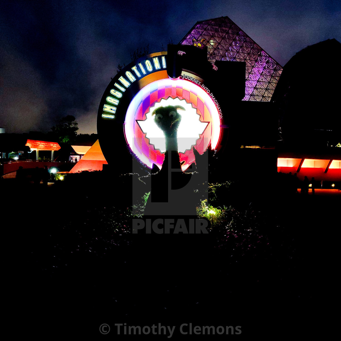 """""""Figment in Epcot"""" stock image"""