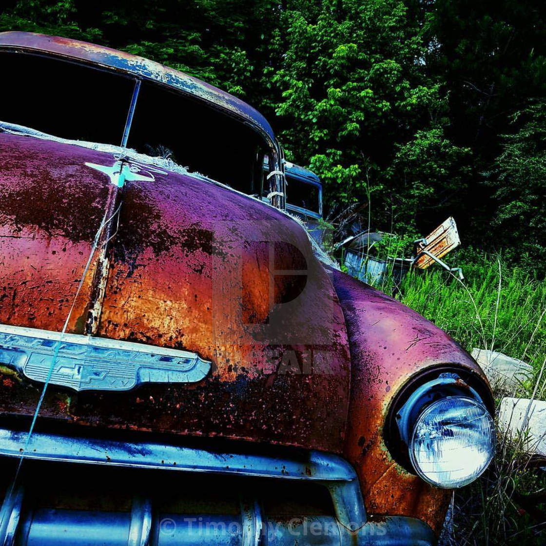 """""""Rusted but still cool looking"""" stock image"""