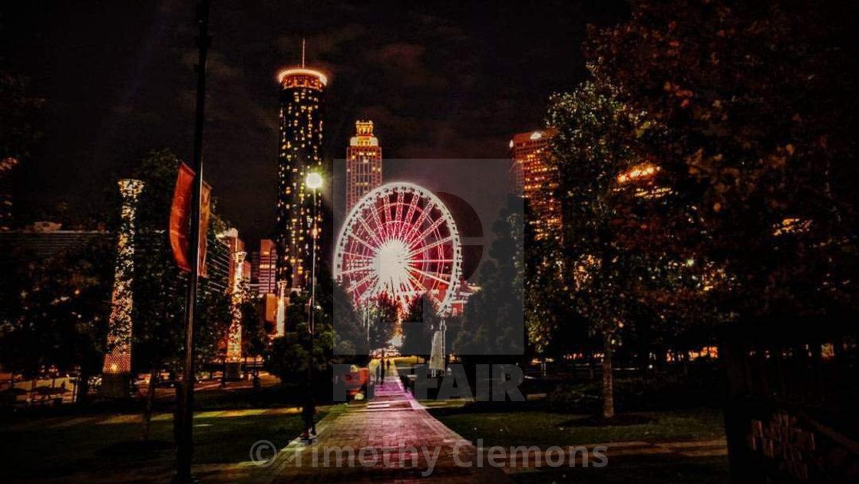 """""""Atlanta at night"""" stock image"""