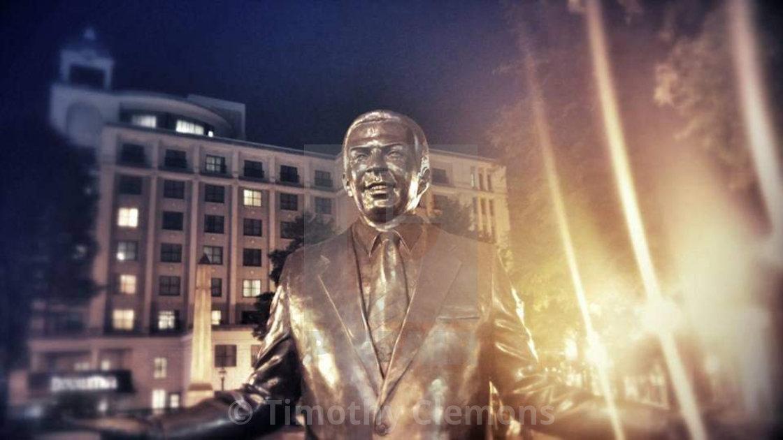 """""""Statue in Atlanta"""" stock image"""