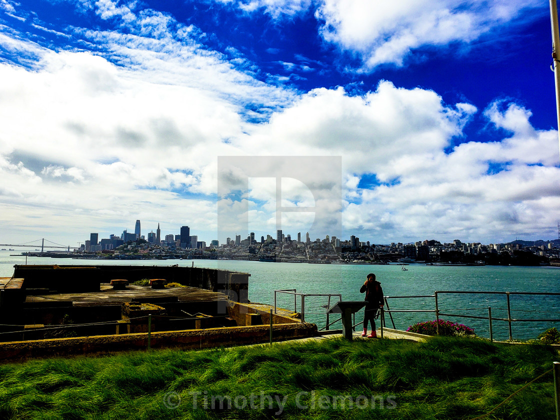"""""""San Francisco as seen from Angel Island"""" stock image"""