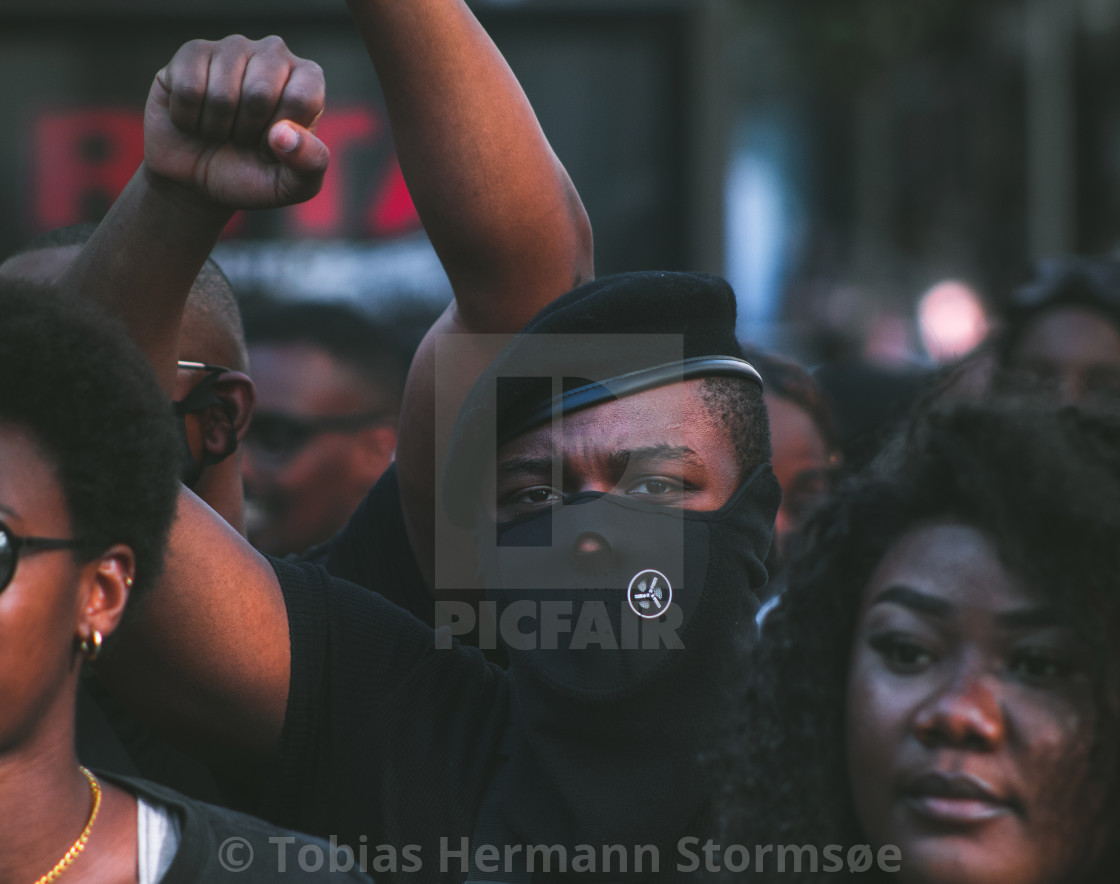 """Justice for George Floyd (BML) protest, Aarhus (June 2020)"" stock image"