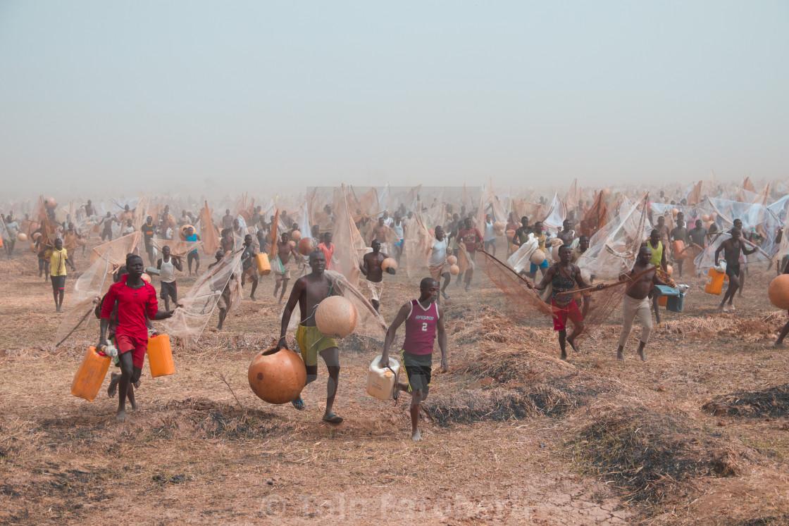 """""""Fishermen from Argungu Festival"""" stock image"""