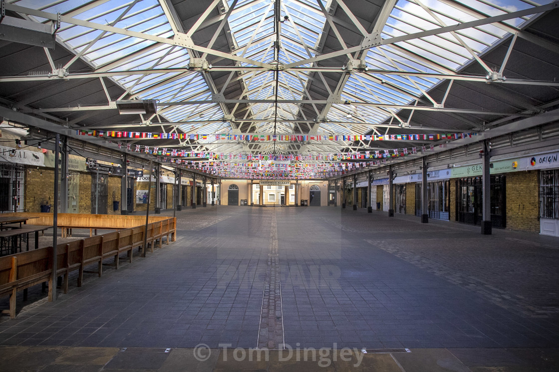 """""""Greenwich Market Deserted"""" stock image"""