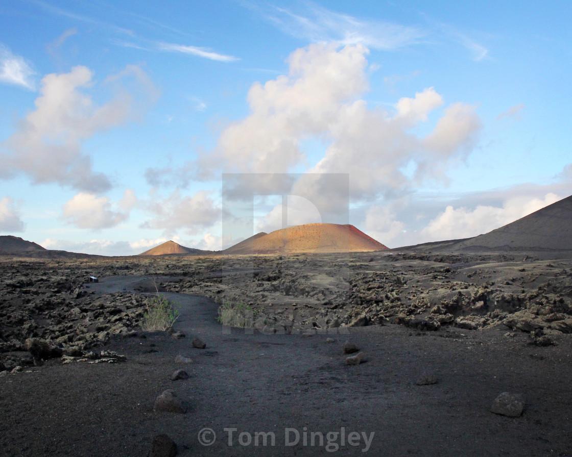 """Timanfaya Dormant Volcano, Lanzarote"" stock image"