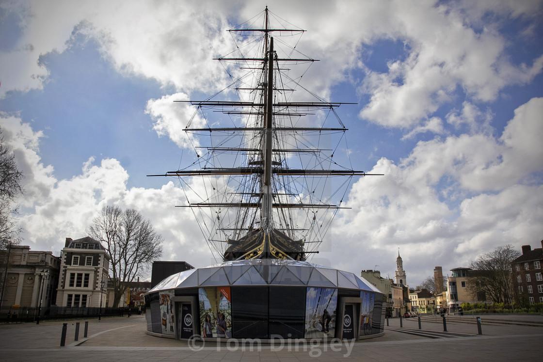 """Cutty Sark, Greenwich"" stock image"