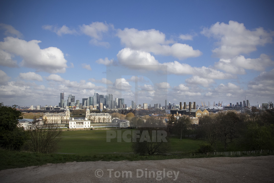 """""""View from Greenwich Park"""" stock image"""