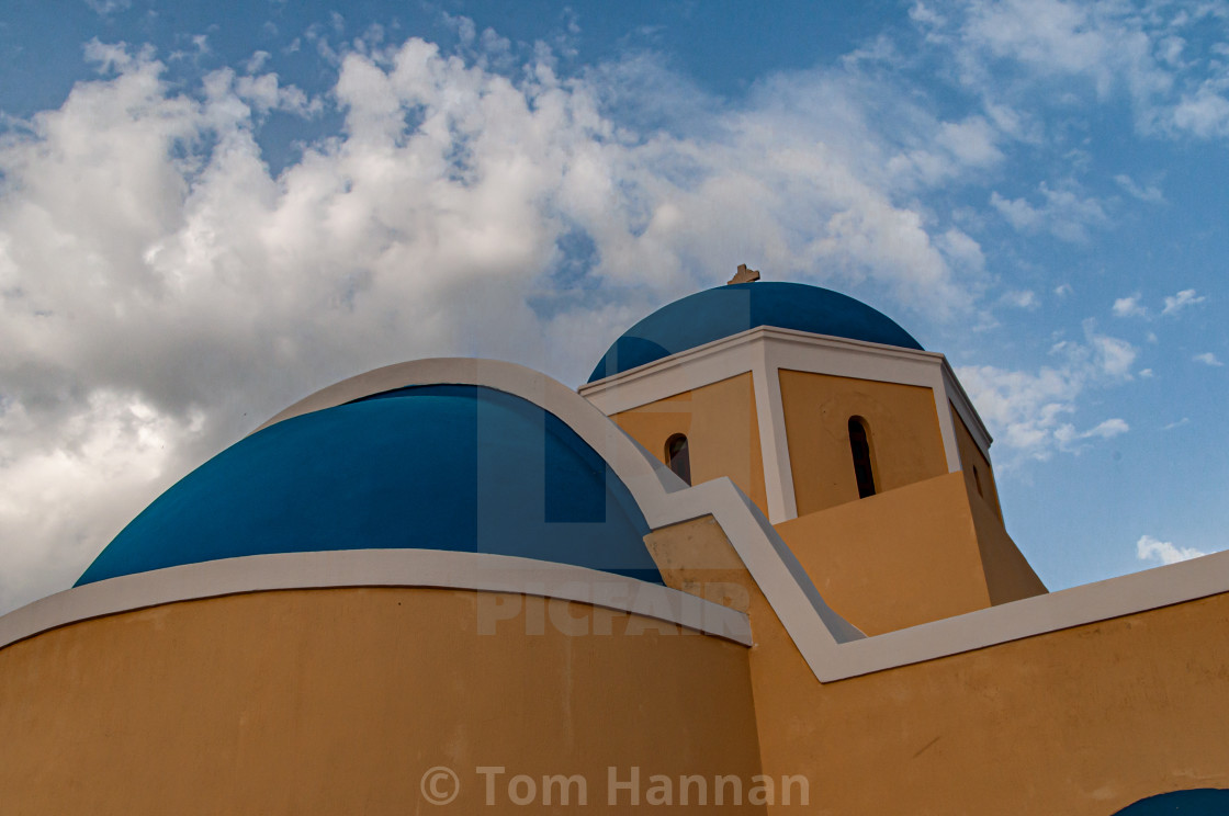 """""""St George's Church at Oia"""" stock image"""