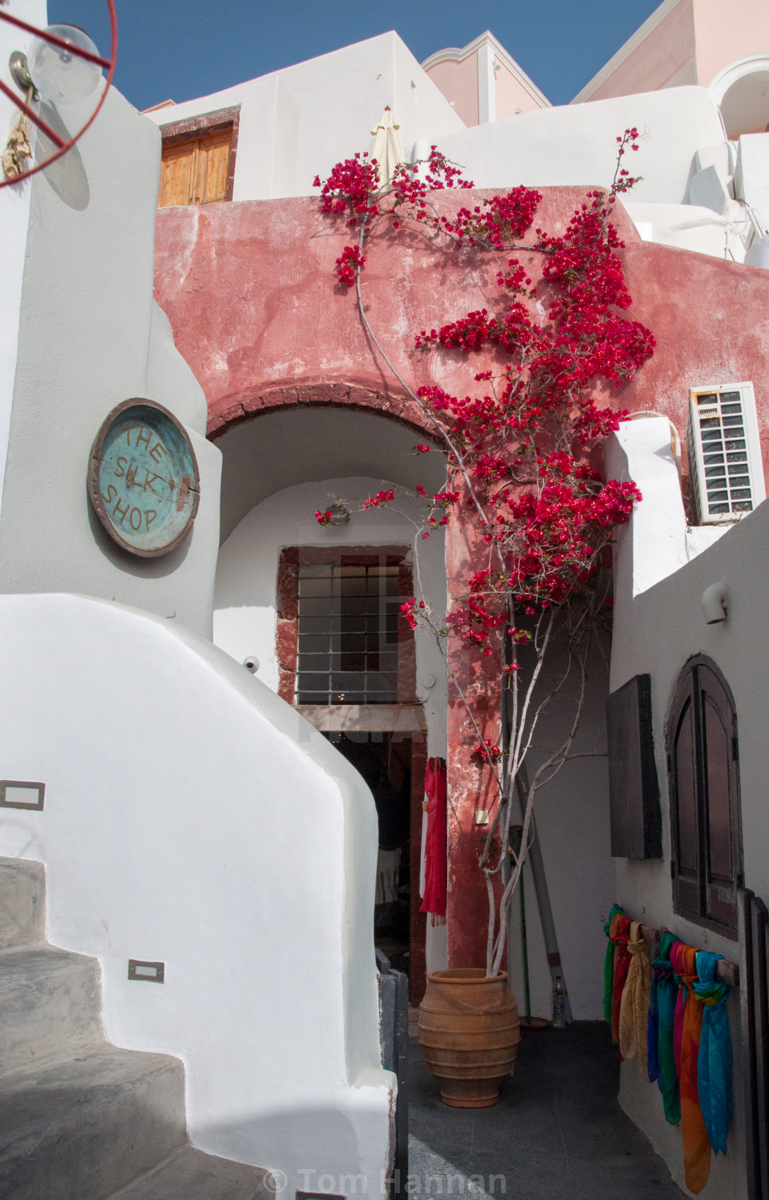 """""""The Silk Shop at Oia"""" stock image"""