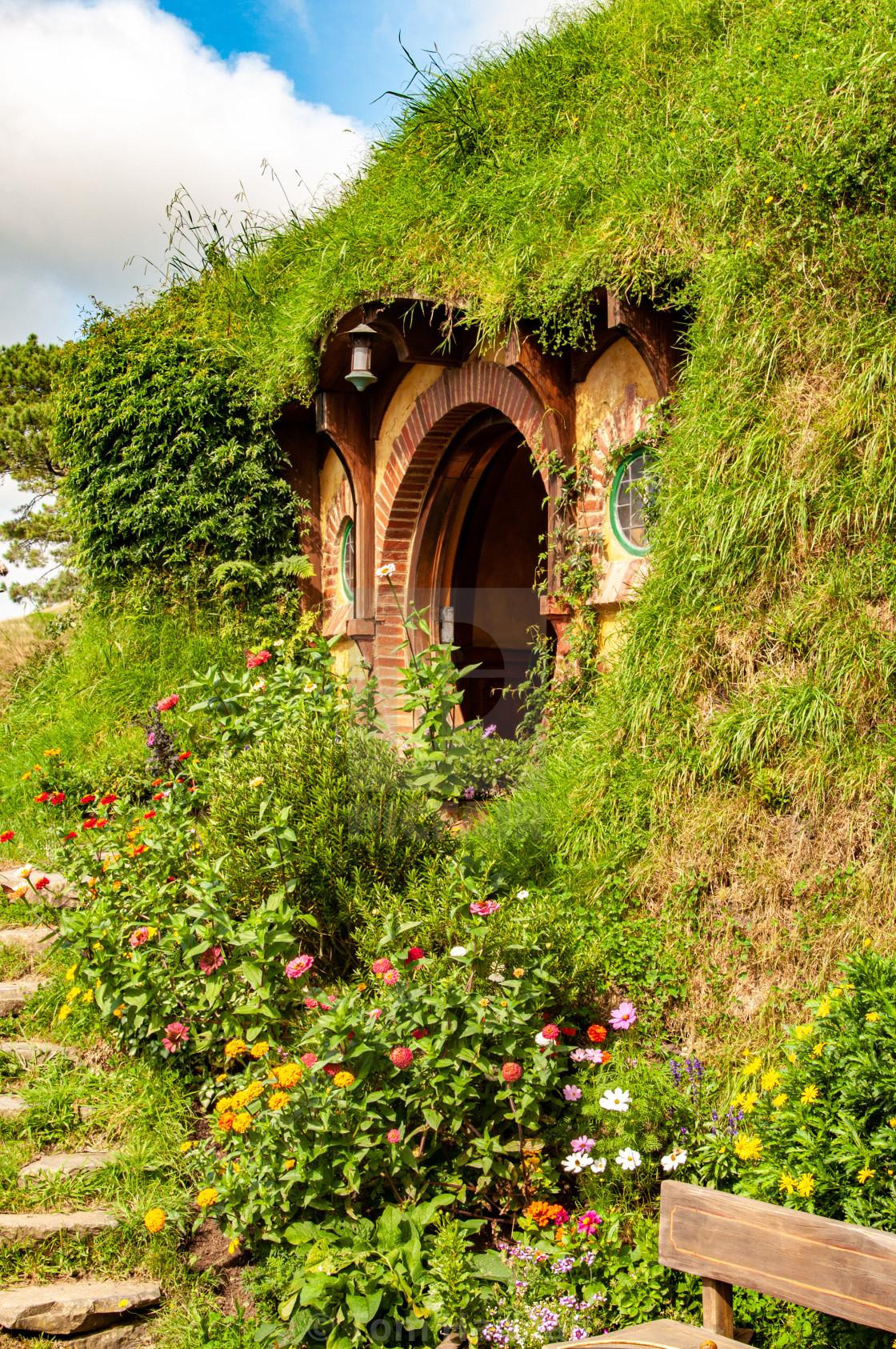 """""""Hobbit Hole - Frodo"""" stock image"""
