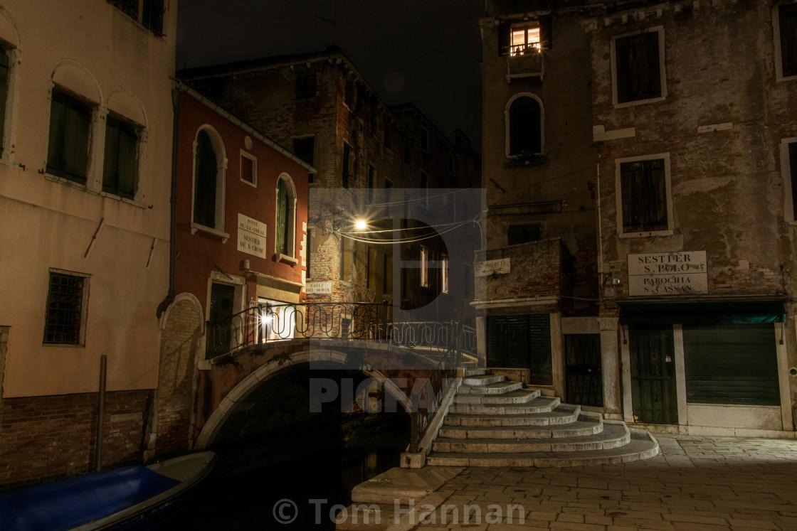 """Venice, Ponte de la Chiesa"" stock image"