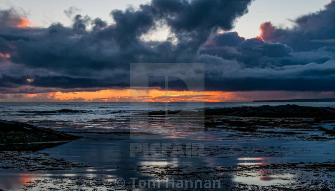 """""""Strandakjirka Sunset, Iceland"""" stock image"""