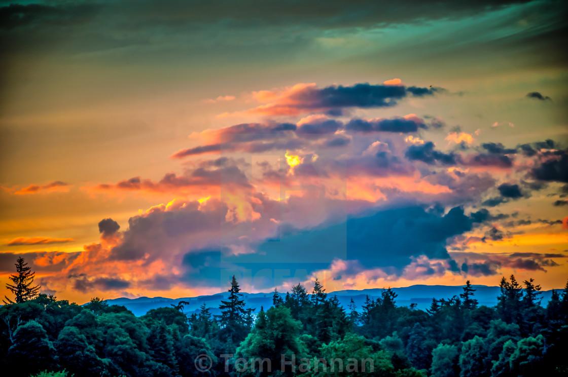 """""""Tummel Sunset"""" stock image"""