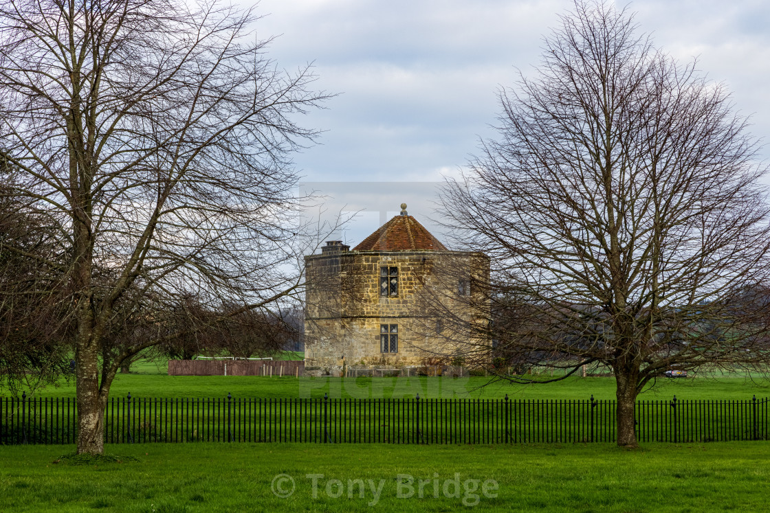 """Tower in the grounds of Cowdray Castle, Midhurst"" stock image"