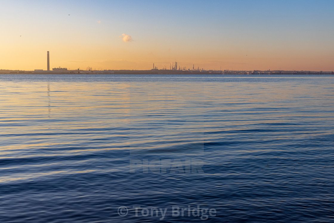 """""""All is calm on Southampton Water"""" stock image"""