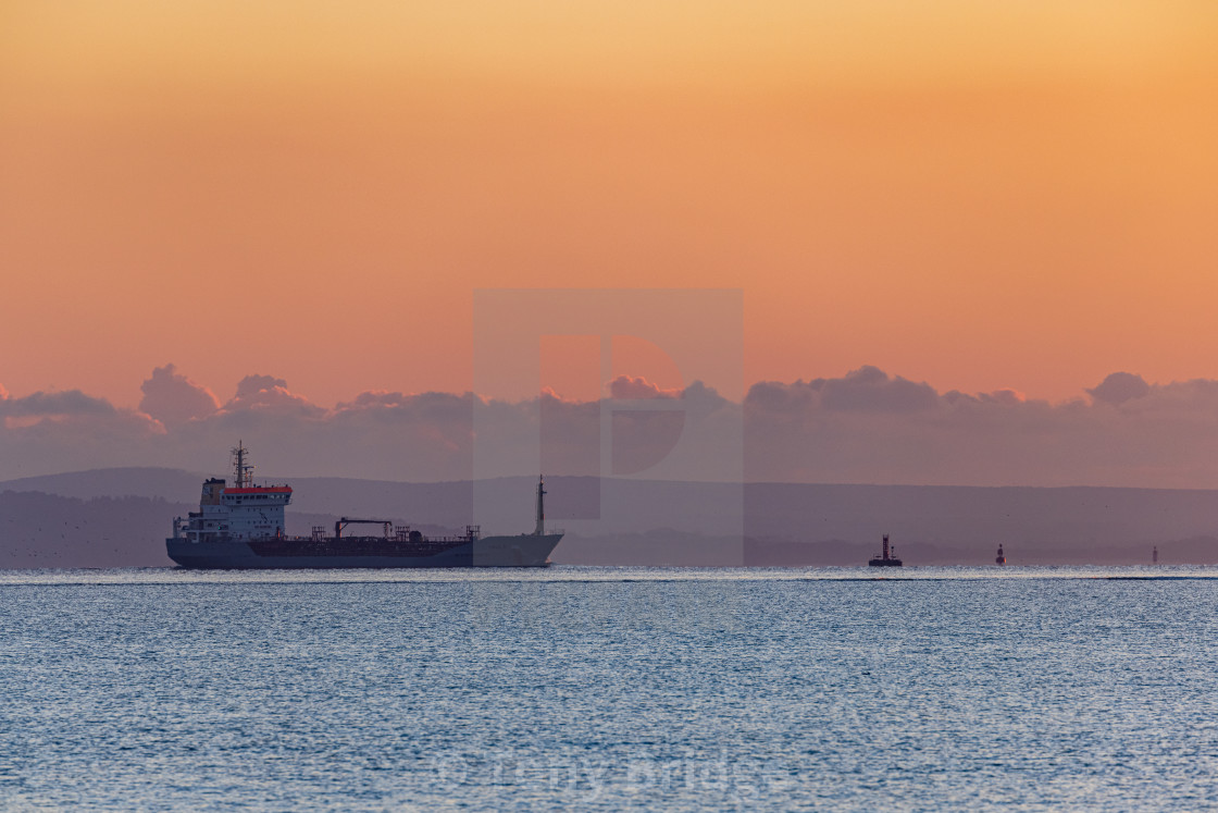 """""""Oil tanker and pastel colours"""" stock image"""