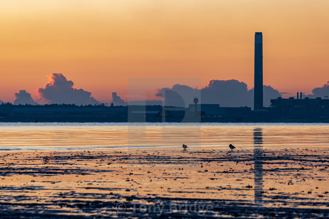 """Industry at sunset"" stock image"