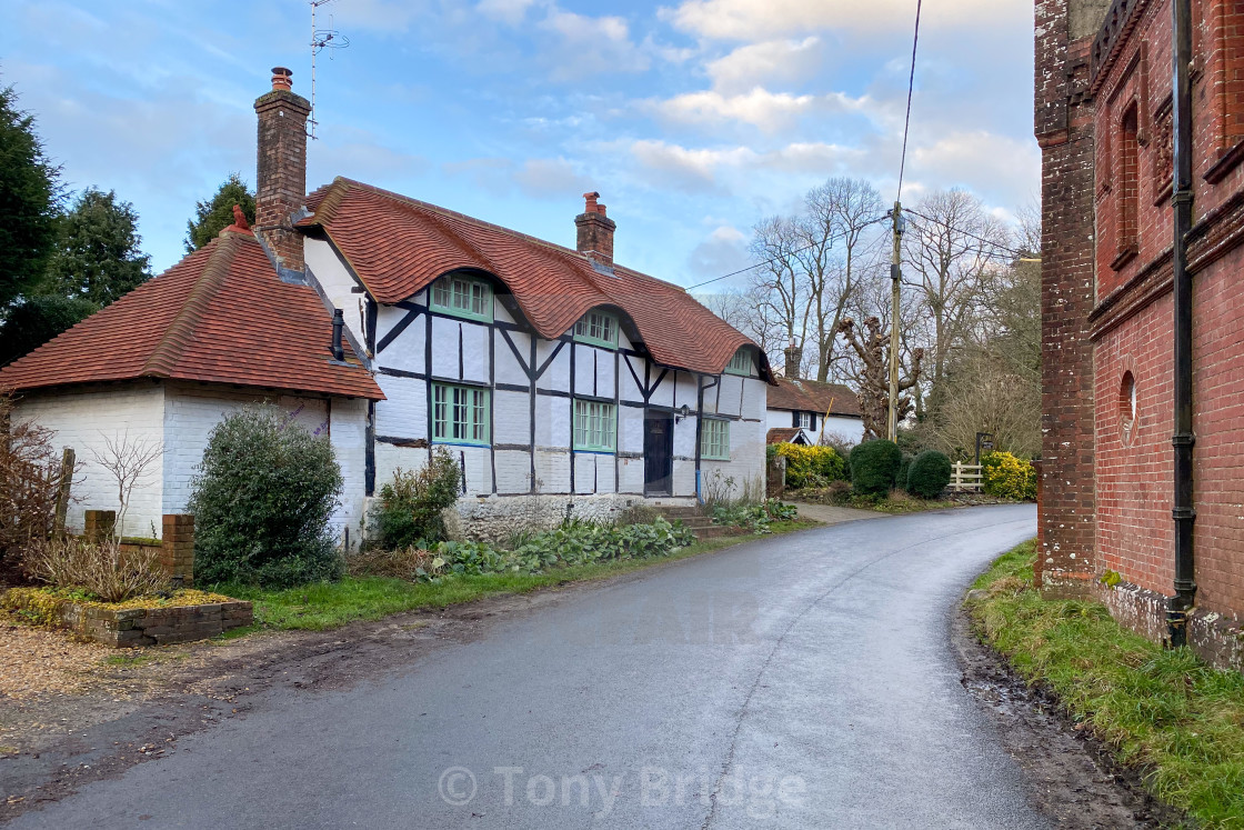 """Upper Farringdon cottage"" stock image"