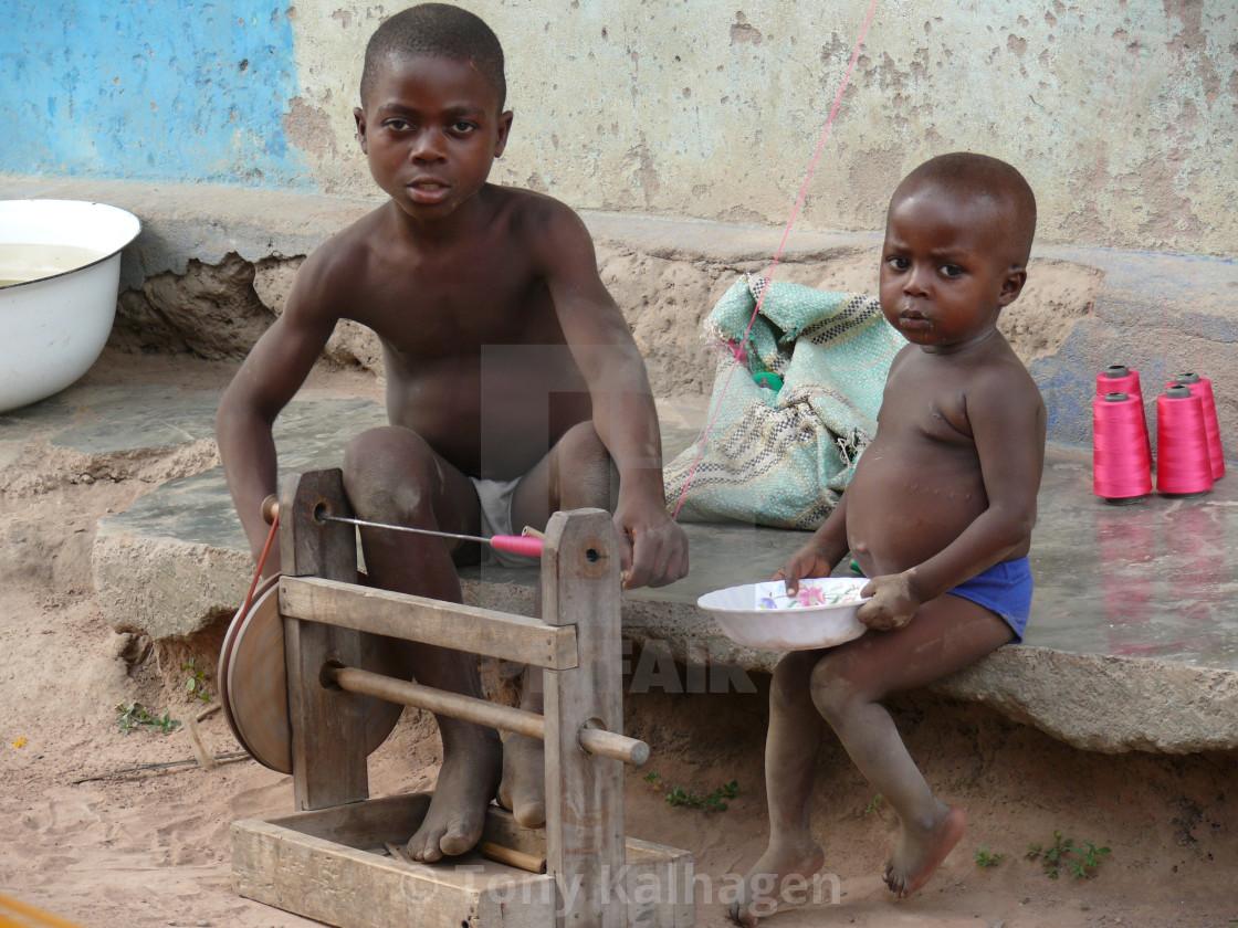 """Tafi Abuipe Kente Cloth Ghana"" stock image"