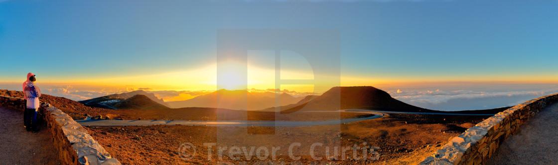 """""""Haleakala Sunrise"""" stock image"""