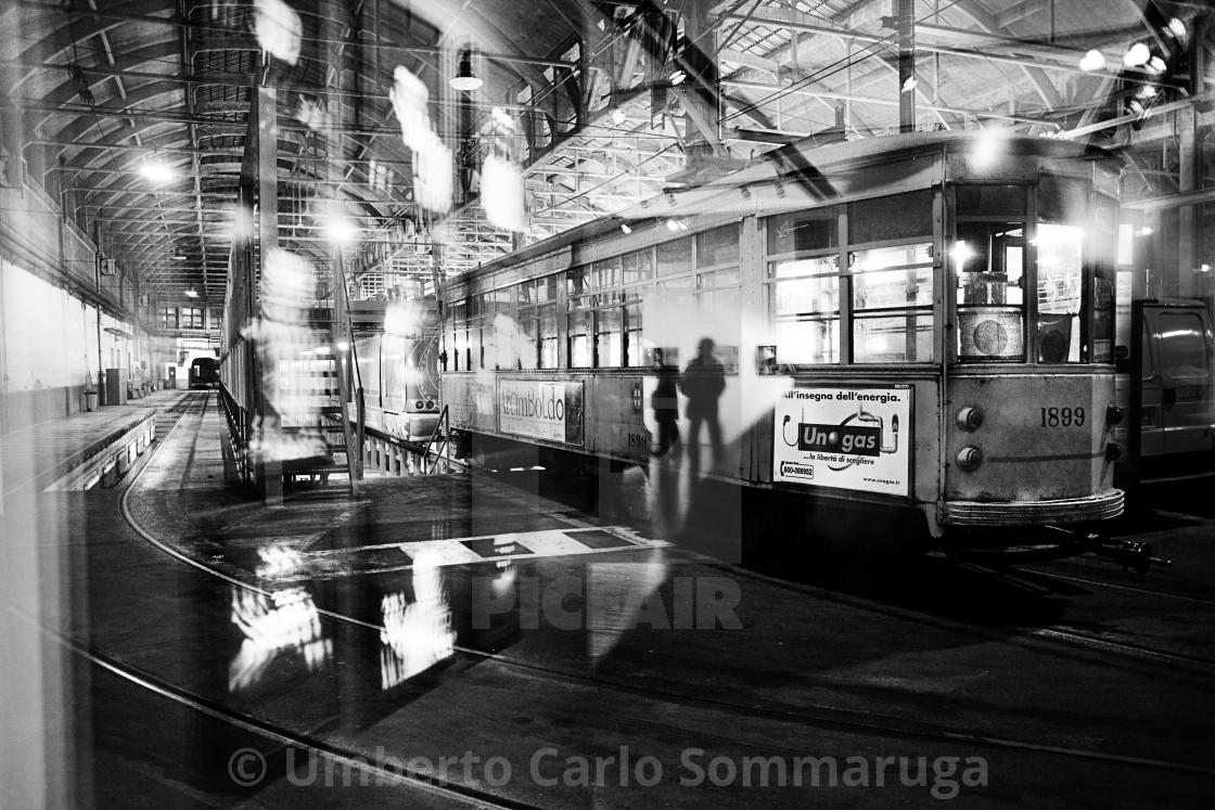 """Tram Depot"" stock image"