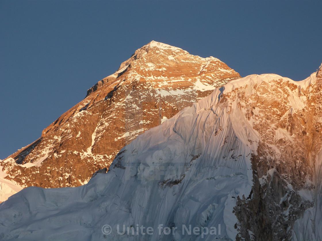 """Sunset on Mount Everest"" stock image"