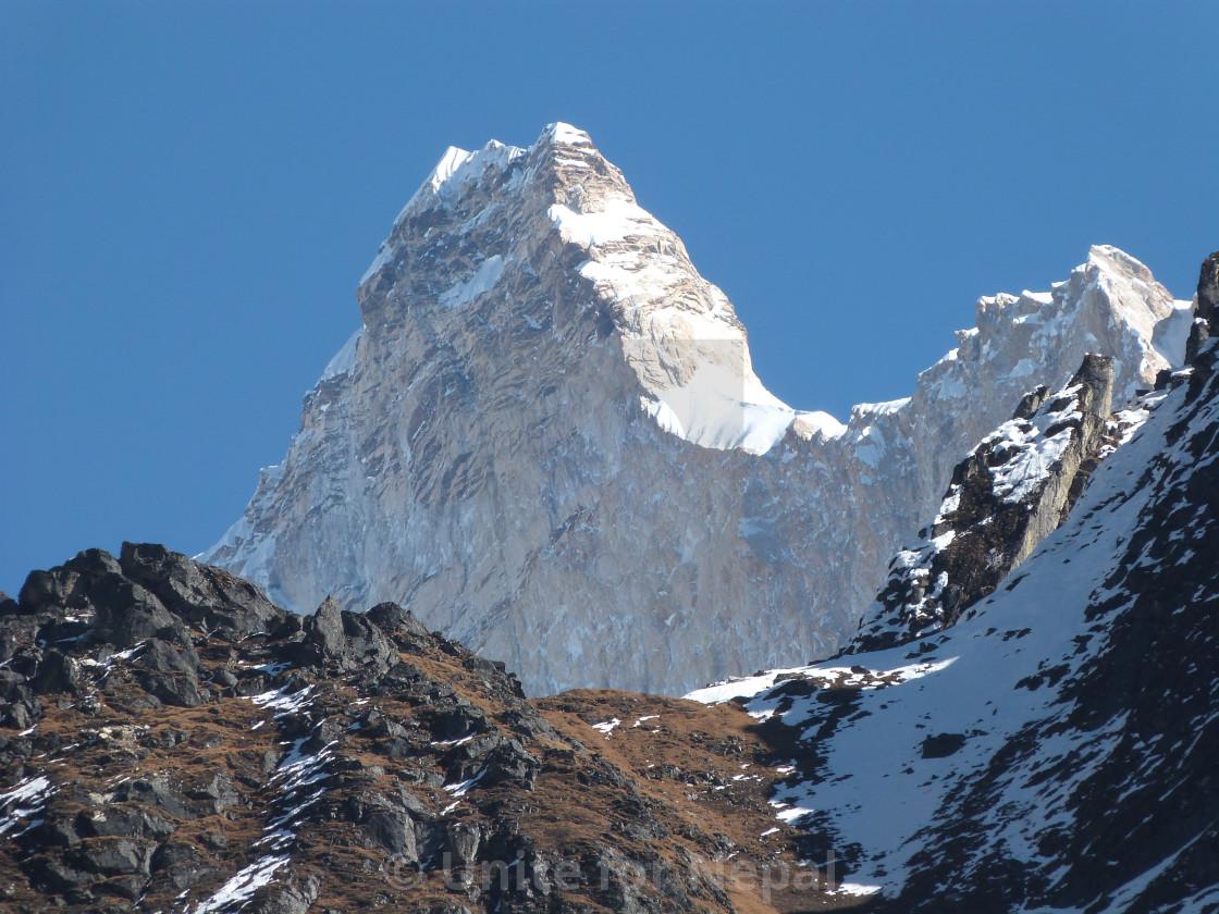"""""""Jannu, Kanchenjunga"""" stock image"""