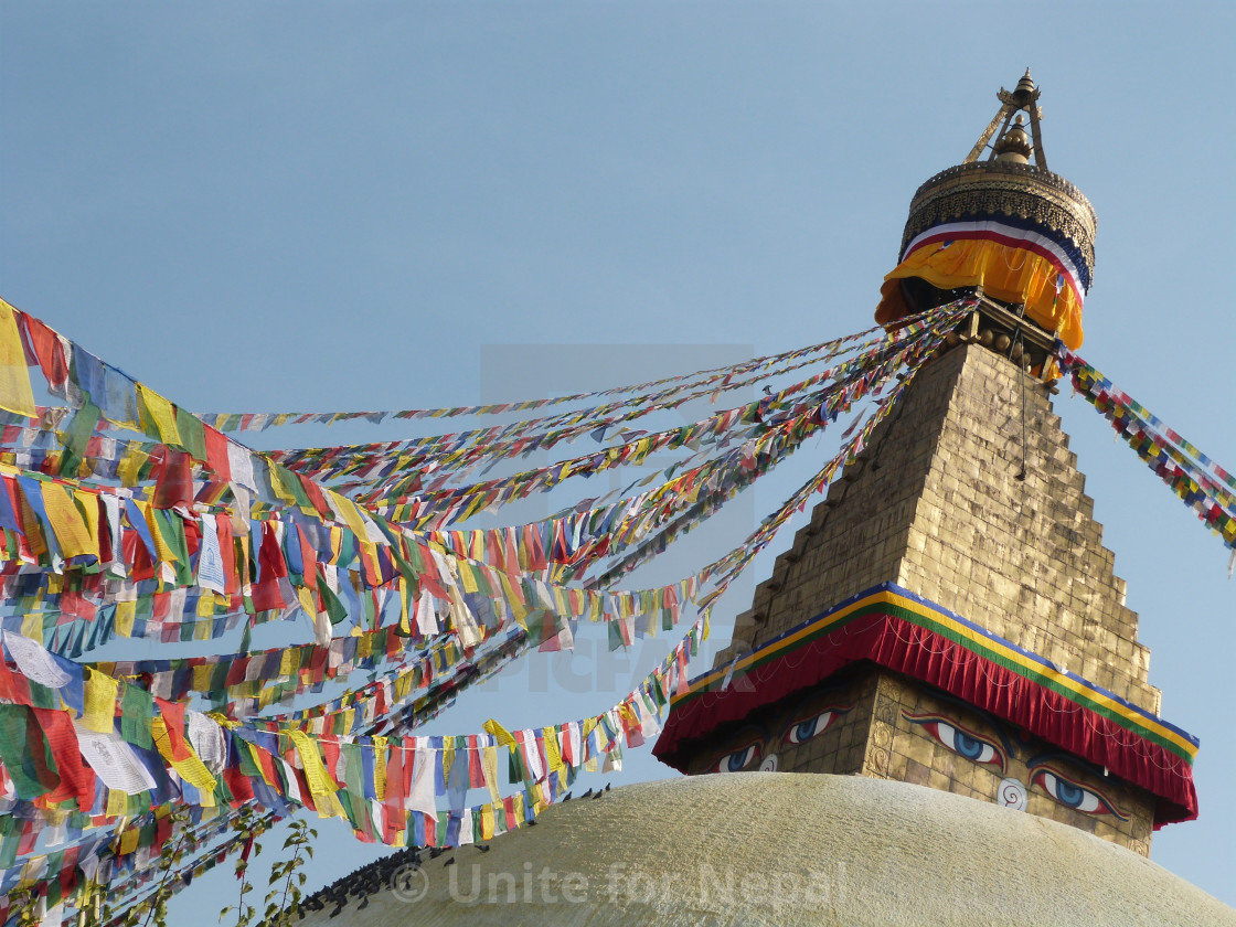 """Boudanath Temple Kathmandu"" stock image"