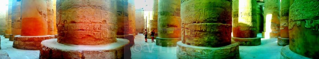 """Temple of Karnak, Egypt panorama"" stock image"
