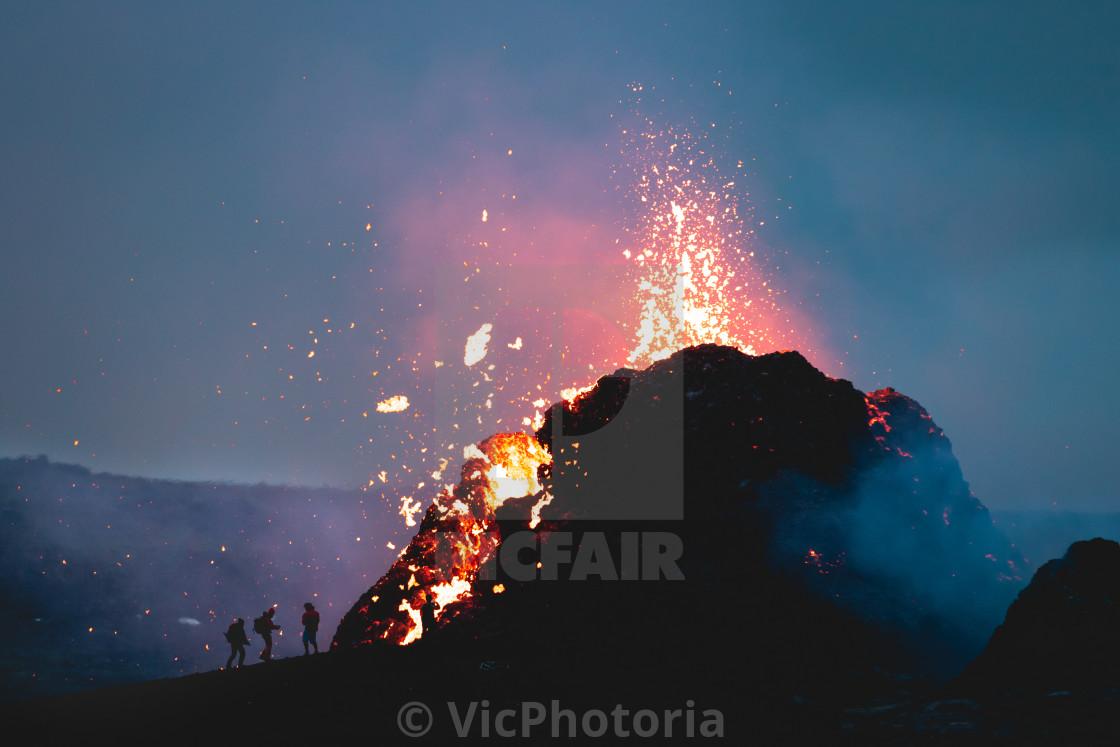 """Volcano in Iceland"" stock image"