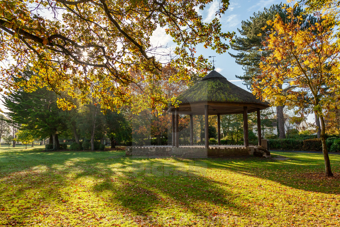 """""""Bandstand at Victoria Park in Frome, Somerset, Uk"""" stock image"""