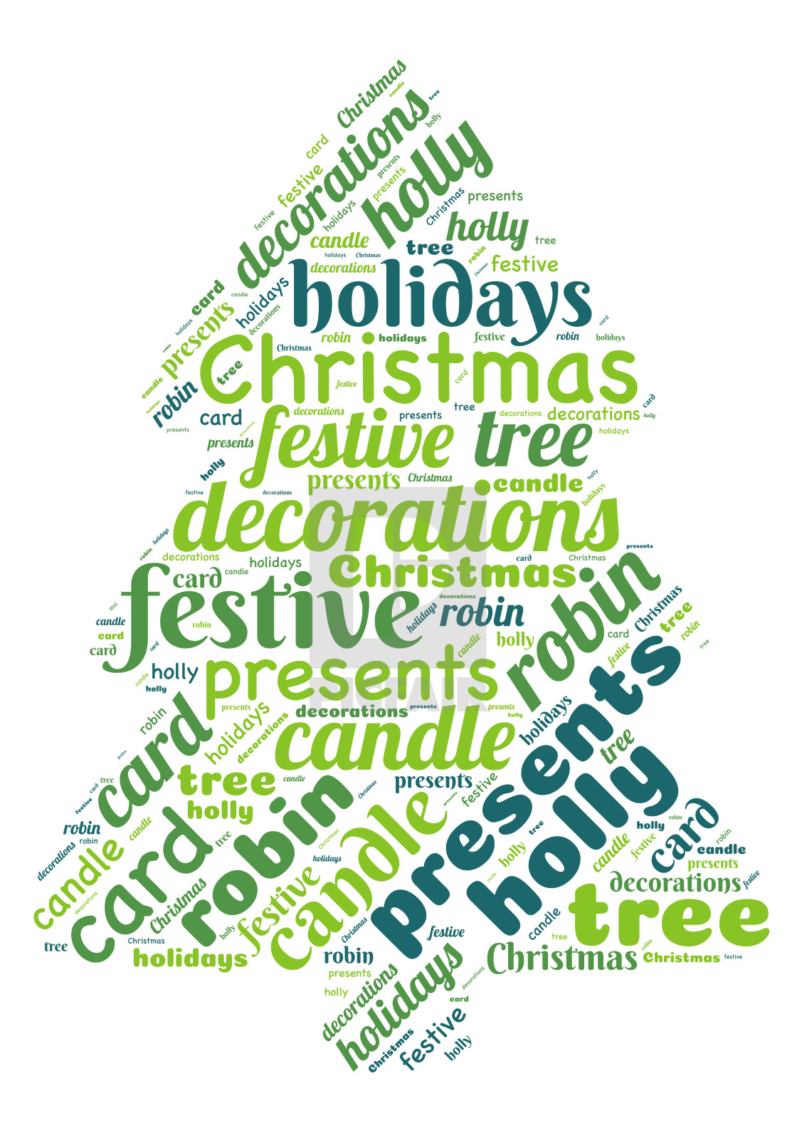 """Illustration of a word cloud representing Christmas"" stock image"