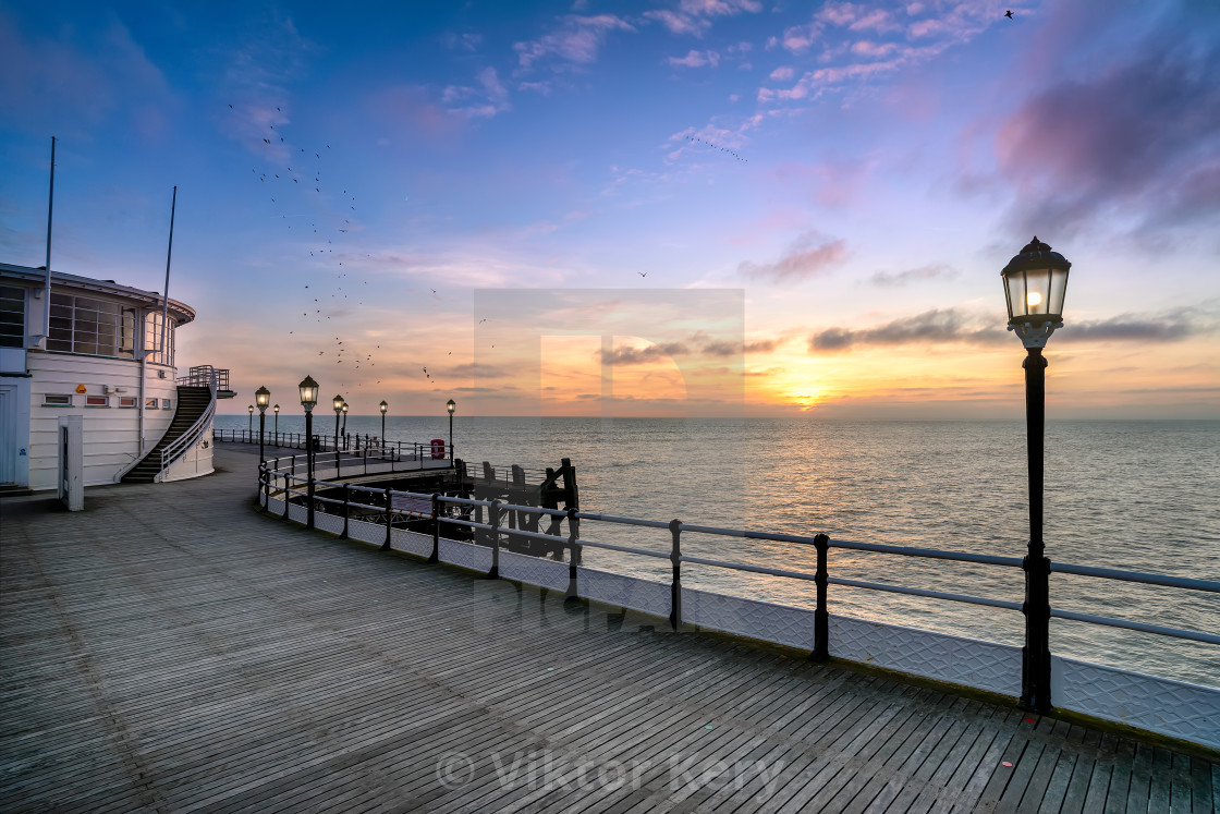 Worthing sunset at the pier